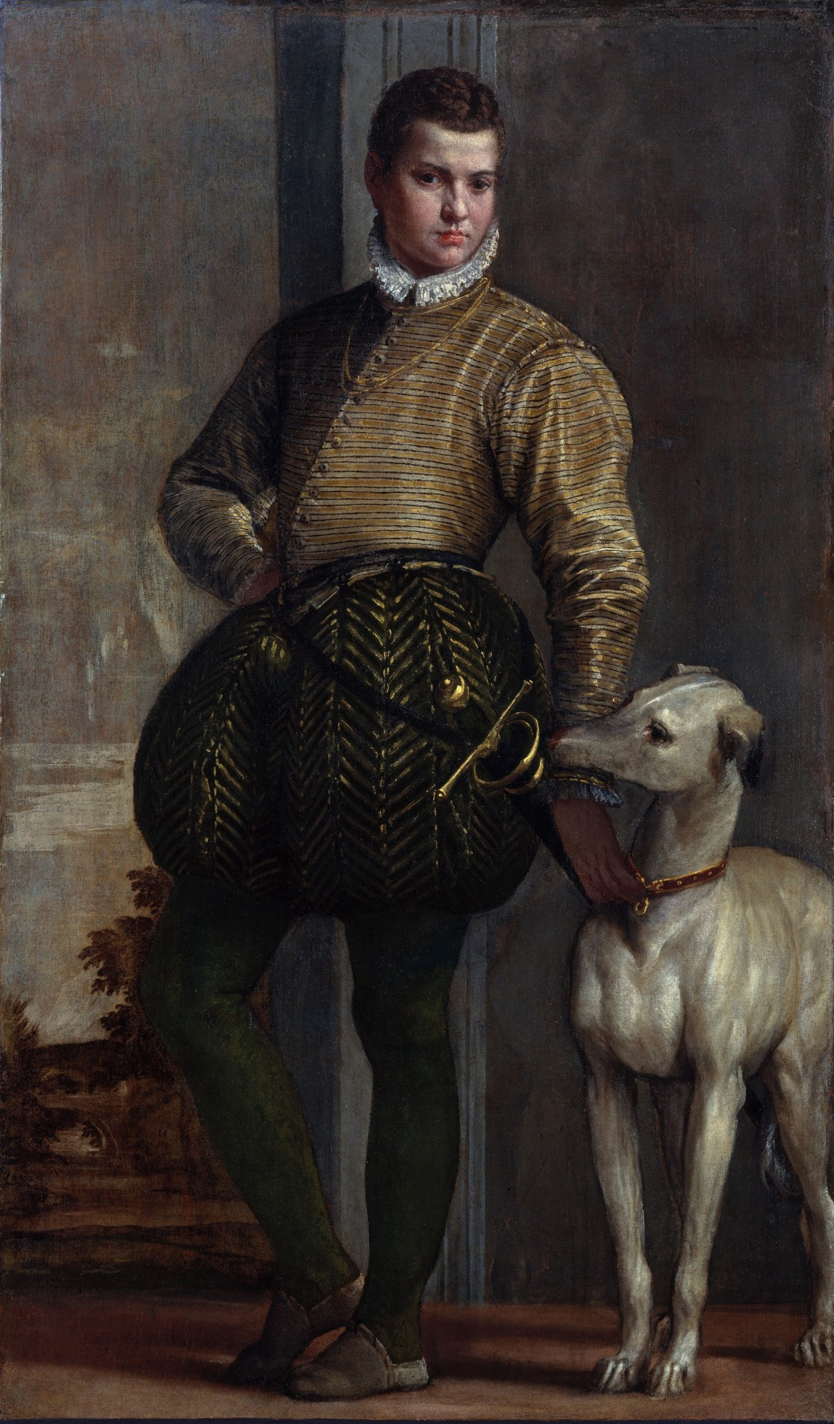 repro. tabeaux craquelées. Boy with a Greyhound, veronese