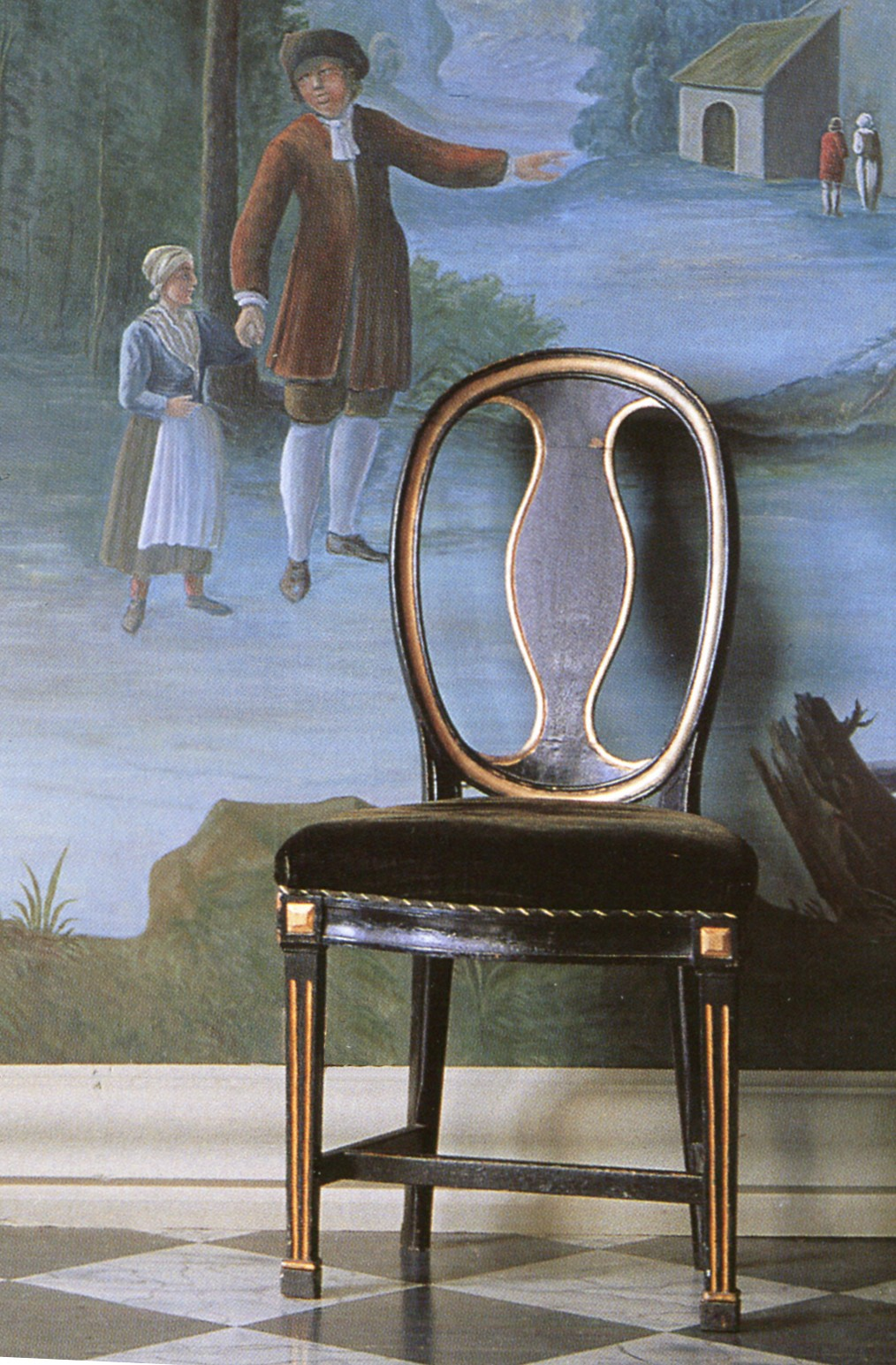 Chaise Louis XVI Scandinave