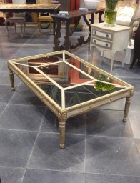 Terra di siena coffee table - Table basse gigogne vintage ...